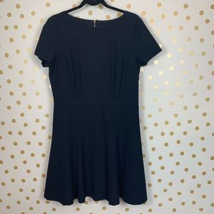 Ann Taylor Navy Fit and Flare Short Sleeve Dress
